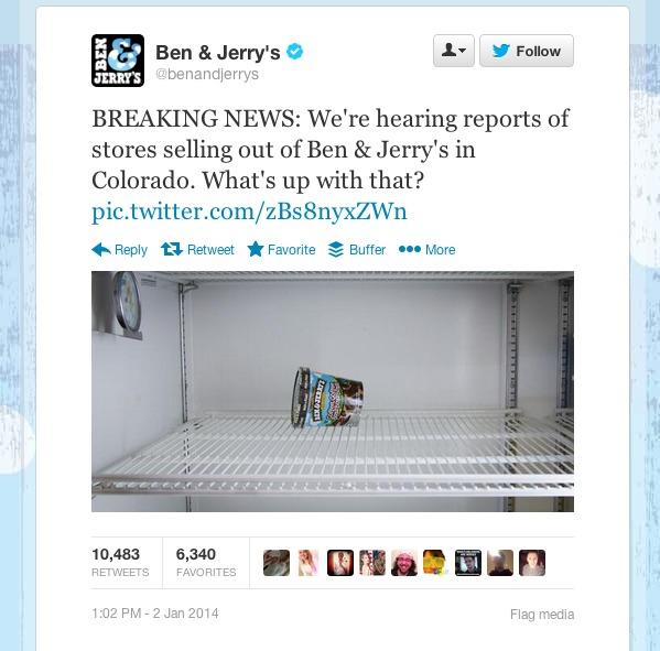Twitter   benandjerrys  BREAKING NEWS  We re hearing ...