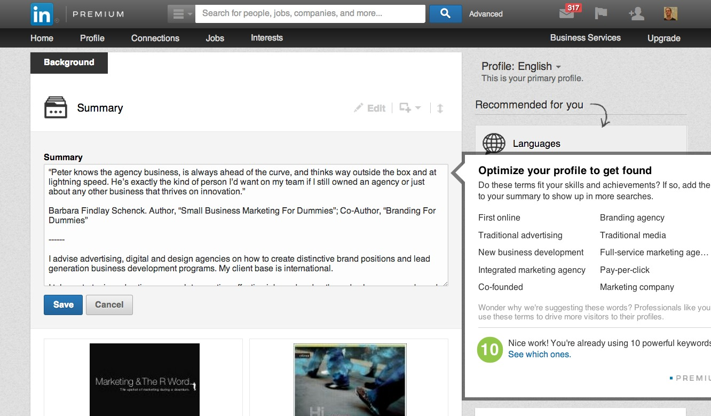 Edit Profile   LinkedIn